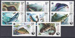 Polen 1979 - Mi.Nr. 2616 - 2623 - Postfrisch MNH - Tiere Animals Fisches Fishes - Fishes