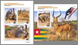 TOGO 2020 MNH Oti-Keran National Park Monkeys Antilopes M/S+S/S - OFFICIAL ISSUE - DHQ2034 - Monkeys
