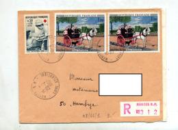 Lettre Recommandée Nantes Sur Rousseau Infirmiere - Poststempel (Briefe)