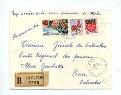 Lettre Recommandée La Fleche Sur Coq Touquet - Poststempel (Briefe)