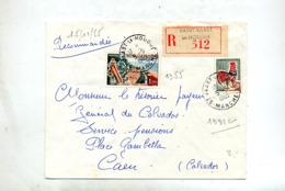 Lettre Recommandée Saint Vaast La Hougue Sur Coq Touquet - Poststempel (Briefe)