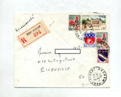Lettre Recommandée Pont Hebert Sur Coq Amboise - Poststempel (Briefe)