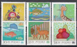 Polen 1983 - Mi.Nr. 2850 - 2855 - Postfrisch MNH - Tiere Animals Fisches Fishes Vögel Birds - Unused Stamps