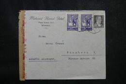TURQUIE - Enveloppe Commerciale De Istanbul Pour L'Allemagne En 1942 Avec Contrôle Postal - L 68916 - Briefe U. Dokumente