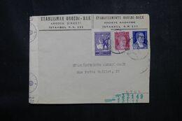 TURQUIE - Enveloppe Commerciale De Istanbul Pour La France En 1942 Avec Contrôle Allemand - L 68918 - Briefe U. Dokumente