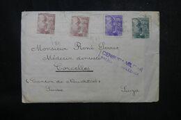 ESPAGNE - Enveloppe De Palma De Mallorca Pour La Suisse - 1939, Affr. Avec 2 Non Dentelés Ou Entiers Découpés - L 68921 - Marques De Censures Nationalistes