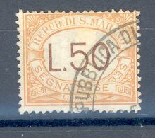 "RSM Fr. USATI 025 - San Marino 1927 - ""SEGNATASSE"" 1v. Da L.50 - Timbres-taxe"