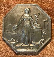 Jeton Argent Société Générale De Crédit Industriel Et Commercial Mai 1859 (21 Gr) (prix Fixe, Recommandé Inclus) - Royal / Of Nobility