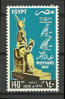 Egypt - 1979 - ( Mother's Day - Isis Holding Horus ) - MNH (**) - Giorno Della Mamma