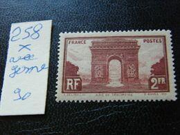 No  258  Neuf * Avec Gome - 1944-45 Arc Of Triomphe