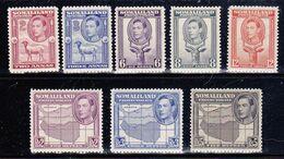 Somaliland 1938 SG.95-96,98-100,102-104 MNH ** - Somaliland (Protettorato ...-1959)