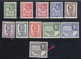 Somaliland 1942  S.G.105-113,  MNH **115-116MLH * - Somaliland (Protettorato ...-1959)