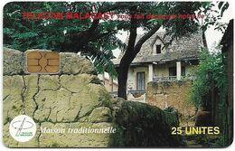 Madagascar - Telecom Malagasy - Maison Traditionnelle - 25Units, Chip AX02, 1.500.000ex, Used - Madagascar