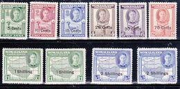 Somaliland 1951 10 Valori Soprastapati MNH** - Somaliland (Protettorato ...-1959)