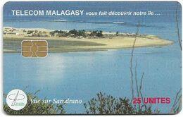 Madagascar - Telecom Malagasy - Vue Sur Sarodrano - 25Units, Chip AX03, 1.200.000ex, Used - Madagascar