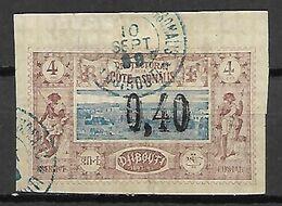 COTE  DES  SOMALIS     -    1899 .   Y&T N° 22 Oblitéré.   Surchargé - Usati
