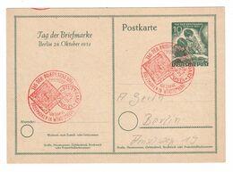Berlin , Tag Der Briefmarke 1951 , Ganzsache Mit Sonderstempel - [5] Berlin