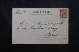 LEVANT FRANÇAIS - Type Mouchon De Constantinople Sur Carte Postale En 1904 Pour La France - L 68926 - Lettres & Documents