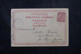 LEVANT FRANÇAIS - Type Mouchon De Constantinople Sur Carte Postale En 1903 Pour La France - L 68928 - Lettres & Documents