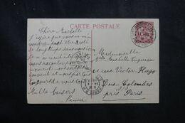 LEVANT FRANÇAIS - Type Mouchon De Constantinople Sur Carte Postale En 1913 Pour La France - L 68929 - Lettres & Documents