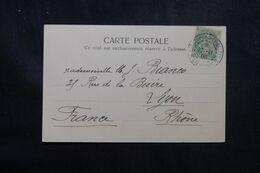 LEVANT FRANÇAIS - Type Blanc De Constantinople Sur Carte Postale En 1905 Pour La France - L 68930 - Lettres & Documents