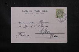 LEVANT FRANÇAIS - Type Blanc De Constantinople Sur Carte Postale En 1905 Pour La France - L 68931 - Lettres & Documents