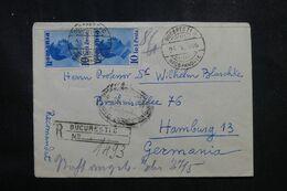 ROUMANIE - Enveloppe En Recommandé De Bucarest Pour L'Allemagne En 1936 - L 68944 - Briefe U. Dokumente
