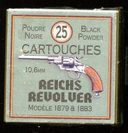 Belle Boite De 25 Cartouches 10.6 Mm Pour Reichsrevolver Allemand - Decotatieve Wapens