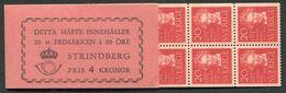 SWEDEN 1949 Strindberg Centenary Booklet MNH / **.  Michel 346 MH - 1904-50