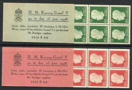 SWEDEN 1948 90th Birthday Of Gustav V Booklets MNH / **.  Michel 343-44 MH - 1904-50