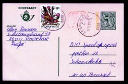 "BK  5 F Plus Bijfrankering BUZIN - ""ZONNEBEKE""  Litt. C   - (ref. CP 1593) - Stamped Stationery"