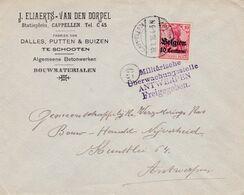 Enveloppe OC3 Schooten Cappellen Cachet Censure Militaire Antwerpen Freigegeben Cachet Facteur 65 - Guerra 14 – 18