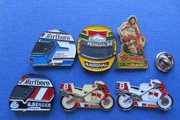 LOT DE 6 Pin's,MARLBORO,MOTO-SPORT,CIGARETTES,TABAC - Marcas Registradas