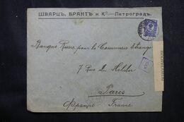 RUSSIE - Enveloppe Commerciale Pour La France En 1916 Avec Contrôle Postal  - L 68973 - Storia Postale