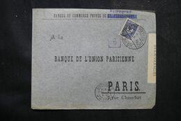 RUSSIE - Enveloppe Commerciale De Pétrograd Pour La France En 1916 Avec Contrôle Postal  - L 68974 - Storia Postale