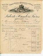 Facture LABERTE HUMBERT Frères FABRIQUE Générale D'instruments De MUSIQUE Orgues Violons à MIRECOURT 1896 - Straßenhandel Und Kleingewerbe