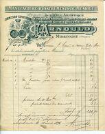 Facture F. ARNOULD FABRIQUE  D'instruments De MUSIQUE Orgues Violons à MIRECOURT VOSGES 1896 - Straßenhandel Und Kleingewerbe