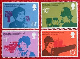 Alexander Graham Bell Anniversary Telephone (Mi 702-705) 1976 POSTFRIS MNH ** ENGLAND GRANDE-BRETAGNE GB GREAT BRITAIN - 1952-.... (Elizabeth II)