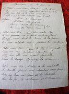 WW1-GUERRE 1914/18 CANTIQUE POUR LA GUERRE MANUSCRIT:AIR PITIÉ MON DIEU POUR LES SOLDATS DE FRANCE-RELIGION ÉSOTÉRISME - 1914-18