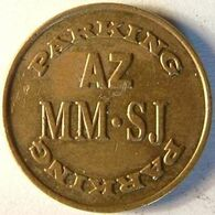 Belg 3250A - Parkeerpenning Parking AZ / MM.SJ - Rev. (same) - 21.2mm B - Gent - Professionnels / De Société
