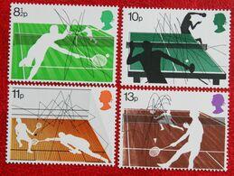Racket Sport Tennis (Mi 727-730) 1977 POSTFRIS MNH ** ENGLAND GRANDE-BRETAGNE GB GREAT BRITAIN - 1952-.... (Elizabeth II)