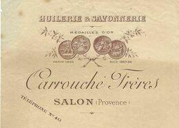 1897 / Traite CARROUCHE Frères / Huilerie Savonnerie / 13 Salon De Provence - 1800 – 1899