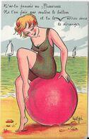 Carte à Système - N'as Tu Jamais Vu Biscarosse ....soulève Le Ballon  Et Tu Verras (10 Minis Vues) - Biscarrosse