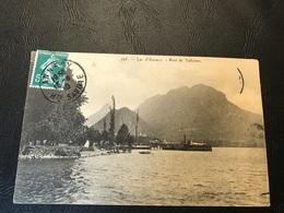195 - Lac D'Annecy Port De Talloires - 1910 Timbrée - Talloires