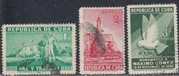 Cuba, Scott #332-333, 336, Used, Maj Gen. Maximo Gomez Birth Centenary, Issued 1936 - Used Stamps