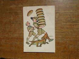 """Carte Assez Rare De Hongrie , Scoutisme , """""""" Corvée De Pain """""""" - Movimiento Scout"""