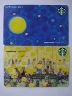 China Gift Cards, Starbucks, 2019 (2pcs) - Cartes Cadeaux