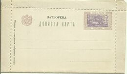 1897 Kartenbrief Carte Lettre Cetinje - Montenegro