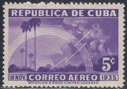 Cuba, Scott #C22, Mint Hinged, Lightning, Issued 1936 - Luchtpost