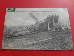 71 / MONTCEAU - LES - MINES / LE DETOURNEMENT DE LA BOURBINCE A CHAVANNES UN EXCAVATEUR RARE  CP /ANIMATION / DOS SCANNE - Montceau Les Mines